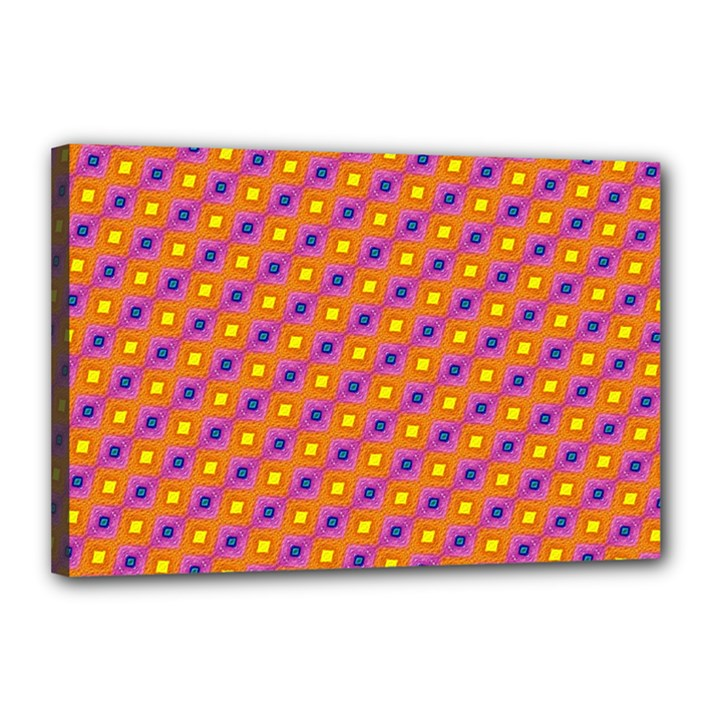 Vibrant Retro Diamond Pattern Canvas 18  x 12