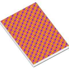 Vibrant Retro Diamond Pattern Large Memo Pads