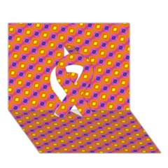 Vibrant Retro Diamond Pattern Ribbon 3D Greeting Card (7x5)