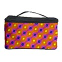 Vibrant Retro Diamond Pattern Cosmetic Storage Case View1