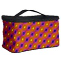 Vibrant Retro Diamond Pattern Cosmetic Storage Case View2