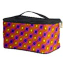 Vibrant Retro Diamond Pattern Cosmetic Storage Case View3