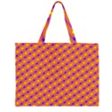 Vibrant Retro Diamond Pattern Large Tote Bag View1