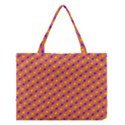 Vibrant Retro Diamond Pattern Medium Tote Bag View1
