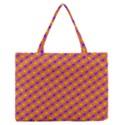 Vibrant Retro Diamond Pattern Medium Zipper Tote Bag View1