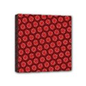 Red Passion Floral Pattern Mini Canvas 4  x 4  View1