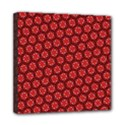 Red Passion Floral Pattern Mini Canvas 8  x 8  View1