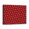 Red Passion Floral Pattern Canvas 10  x 8  View1