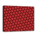 Red Passion Floral Pattern Canvas 14  x 11  View1