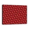 Red Passion Floral Pattern Canvas 16  x 12  View1