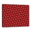 Red Passion Floral Pattern Canvas 20  x 16  View1