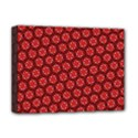 Red Passion Floral Pattern Deluxe Canvas 16  x 12   View1