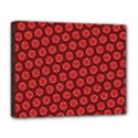 Red Passion Floral Pattern Deluxe Canvas 20  x 16   View1