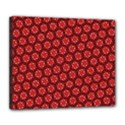 Red Passion Floral Pattern Deluxe Canvas 24  x 20   View1