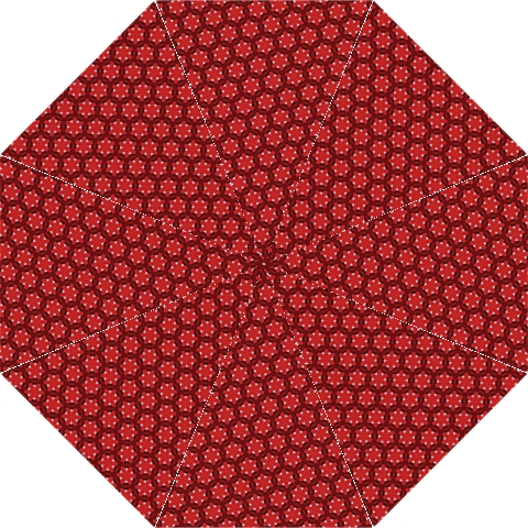 Red Passion Floral Pattern Golf Umbrellas