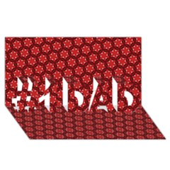 Red Passion Floral Pattern #1 Dad 3d Greeting Card (8x4)