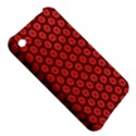 Red Passion Floral Pattern Apple iPhone 3G/3GS Hardshell Case View5