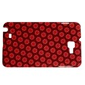 Red Passion Floral Pattern Samsung Galaxy Note 1 Hardshell Case View1