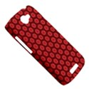 Red Passion Floral Pattern HTC One S Hardshell Case  View5