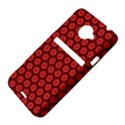 Red Passion Floral Pattern HTC Evo 4G LTE Hardshell Case  View4