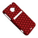 Red Passion Floral Pattern HTC Evo 4G LTE Hardshell Case  View5