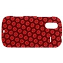 Red Passion Floral Pattern HTC Amaze 4G Hardshell Case  View1