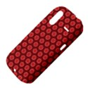 Red Passion Floral Pattern HTC Amaze 4G Hardshell Case  View4