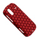 Red Passion Floral Pattern HTC Amaze 4G Hardshell Case  View5