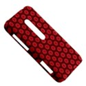 Red Passion Floral Pattern HTC Evo 3D Hardshell Case  View5