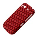 Red Passion Floral Pattern HTC Desire S Hardshell Case View4