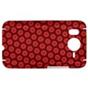 Red Passion Floral Pattern HTC Desire HD Hardshell Case  View1