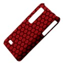 Red Passion Floral Pattern LG Optimus Thrill 4G P925 View4