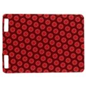 Red Passion Floral Pattern Kindle Touch 3G View1