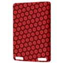 Red Passion Floral Pattern Kindle Touch 3G View3