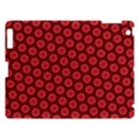 Red Passion Floral Pattern Apple iPad 3/4 Hardshell Case View1