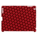 Red Passion Floral Pattern Apple iPad 3/4 Hardshell Case (Compatible with Smart Cover) View1