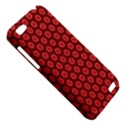 Red Passion Floral Pattern HTC One V Hardshell Case View5