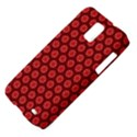 Red Passion Floral Pattern Samsung Galaxy S II Skyrocket Hardshell Case View4