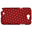 Red Passion Floral Pattern Samsung Galaxy Note 2 Hardshell Case View1