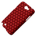 Red Passion Floral Pattern Samsung Galaxy Note 2 Hardshell Case View4