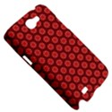 Red Passion Floral Pattern Samsung Galaxy Note 2 Hardshell Case View5