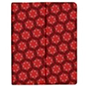 Red Passion Floral Pattern Apple iPad 2 Flip Case View1