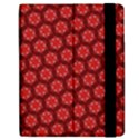 Red Passion Floral Pattern Apple iPad Mini Flip Case View2