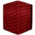 Red Passion Floral Pattern Apple iPad Mini Flip Case View4