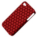 Red Passion Floral Pattern Apple iPhone 4/4S Hardshell Case (PC+Silicone) View4