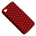 Red Passion Floral Pattern Apple iPhone 4/4S Hardshell Case (PC+Silicone) View5