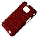 Red Passion Floral Pattern Samsung Galaxy S II i9100 Hardshell Case (PC+Silicone) View4