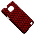 Red Passion Floral Pattern Samsung Galaxy S II i9100 Hardshell Case (PC+Silicone) View5