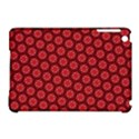 Red Passion Floral Pattern Apple iPad Mini Hardshell Case (Compatible with Smart Cover) View1