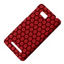 Red Passion Floral Pattern HTC One SU T528W Hardshell Case View4